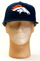 New Era 59Fifty Blue NFL Denver Broncos Fitted Hat Cap Adult NWT - £30.10 GBP