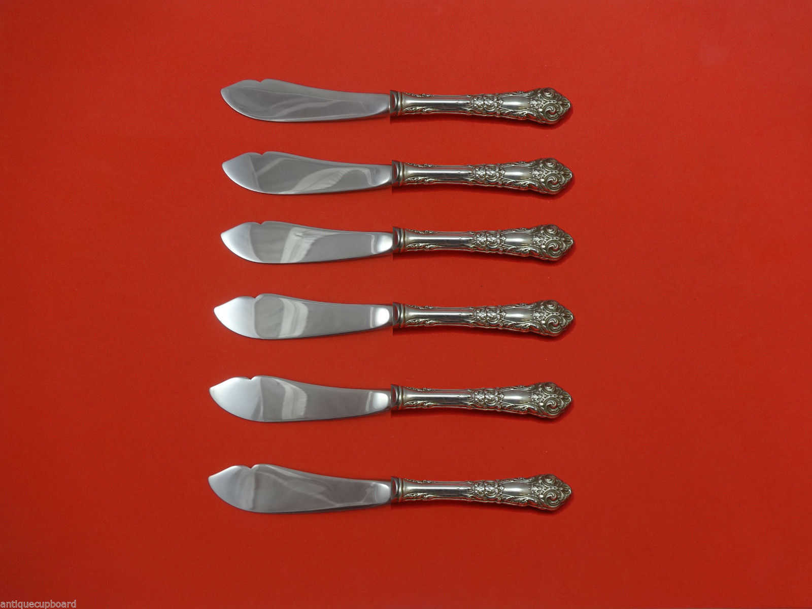 Primary image for French Renaissance by Reed & Barton Sterling Silver Trout Knife Set 6pc Custom