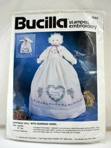 """Bucilla Stamped Embroidery Pillowcase Keepsake Doll with Guardian Angel Kit 17"""" - $18.95"""