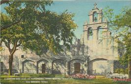 Linen Postcard B402 Mission San Juan De Capistrano Third Mission San Ant... - $8.00