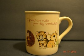 Hallmark Mug Mates Coffee Mug Baby Animals Friends Make You Smile  - EUC - $10.87