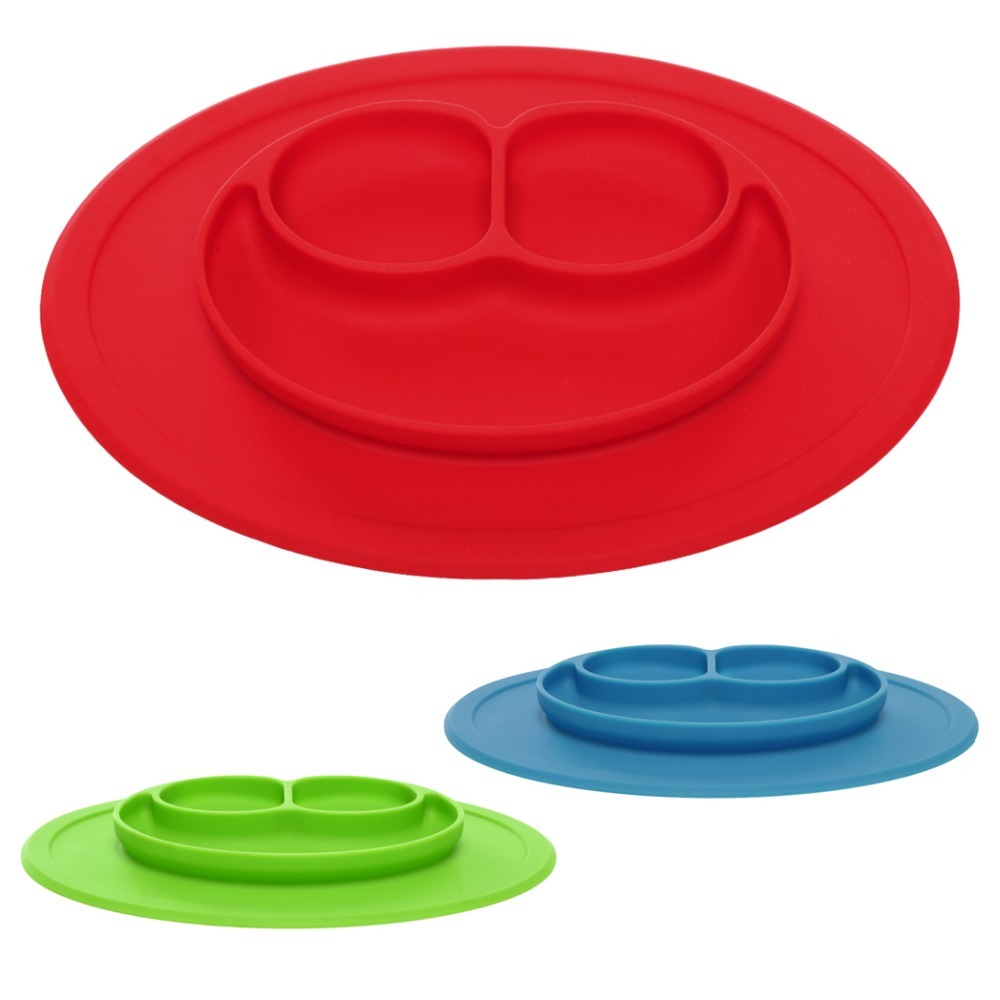 One-Piece Baby Silicone Placemat Kids Feeding Food Dish Plate FDA Approved - $19.89