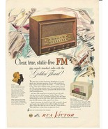 1947 Ad Vintage RCA Victor Clear, True, Static-Free FM - $8.99