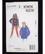 Kwik Sew Sewing Pattern Girls Youth Shirts Tops Leggings #2628 Sizes  4 ... - $6.95