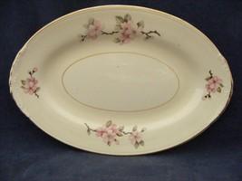 """Homer Laughlin Eggshell Nautilus Apple Blossom 9"""" x 6 1/8"""" Oval Platter - $19.95"""
