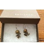 Silpada W1948 Sterling Silver Brass Pearl Tiger Eye Glass Bead Dangle Ea... - $40.45