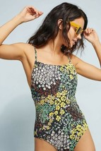 New Anthropologie Allihop Square-Neck One-Piece Swimsuit Floral X-SMALL ... - $47.52