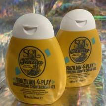 TWO Sol De Janeiro Brazilian 4Play Moisturizing Shower Cream Gel 3.0 fl. oz.