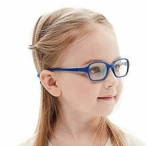 Kids Glasses Frame Unbreakable Smart Looks Cute Blue Eyewear Frame with ... - $23.27