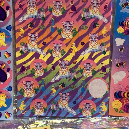 Incredible Incomplete Lisa Frank Sticker Sheets LOT OF 5 Rainbow Tiger Kittens +