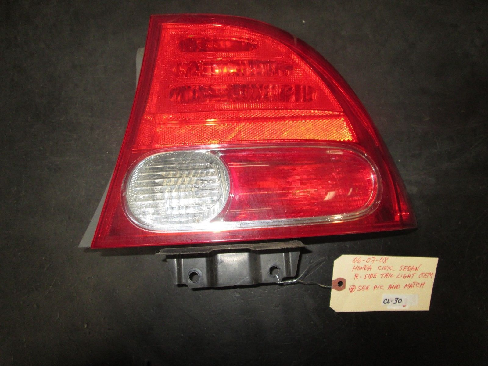 Primary image for 06 07 08 HONDA CIVIC SEDAN RIGHT PASSENGER SIDE TAIL LIGHT OEM