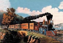 Steam Locomotive by Nathaniel Currier - Art Print - $19.99+