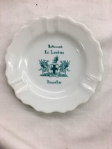 Restaurant Le Landres Bruxelles ashtray Brusselles Belgium vintage tray  - $19.99