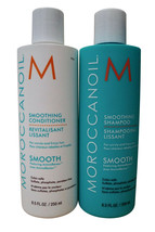 Moroccanoil Smoothing Shampoo & Conditioner Set Unruly & Frizzy Hair 8.5 OZ - $61.21