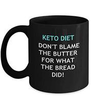 An item in the Pottery & Glass category: Funny Keto Diet Gifts Black Ceramic Coffee Mug For Men & Women - Don't Blame The