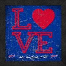"Buffalo Bills 13x13 ""LOVE My NFL Team"" Color Textured Framed Print  - $39.95"