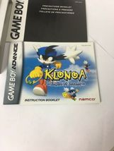 GBA Klonoa Empire Of Dreams ORIGINAL BOX & MANUAL ONLY No Game image 6