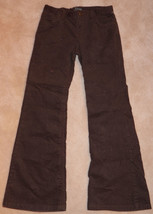 GAP Brown Glitter Corduroy Pants Girls Size 12 Regular Gold Sparkle Shin... - $13.50