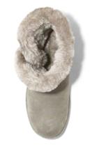 Universal Thread Women's Daniah Gray Genuine Suede Faux Fur Winter Snow Boots image 2