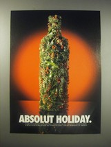 1990 Absolut Vodka Ad - Absolut Holiday - $14.99