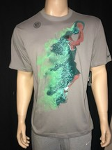 Nike KD On Fire DRI-Fit Men's T-shirt Tee BNWT Kevin Durant Gray Green - $20.80