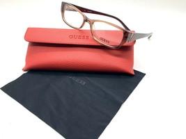 GUESS GU2305 D96 Brown Women's Plastic Eyeglasses Frames 52-16-140 Black + CASE - $31.98
