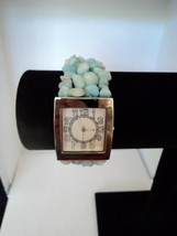 Avon Semi-Precious Chip Stretch Watch Green Needs Battery New 2007 Stock - $13.99