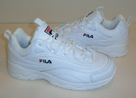 Fila Size 8.5 DISARRAY White Leather Sneakers New Womens Shoes - $98.01