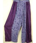 P345P~TIENDA HO~Purple/Lilac~DRAPE~EMBROIDERED~Center Seam Pants~FESTIVA... - $32.71
