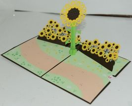 Lovepop LP1570 Sunflower Pop Up Card White Envelope Cellophane Wrapped image 3