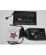 Womens Avon credit card holder lapel pin star heart pin I Love Avon NIP;; - $29.69