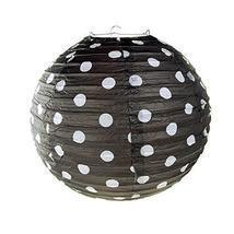 Polka Dot Hanging Paper Lanterns, 12-Inch #PS_16825 (Black) - $13.86