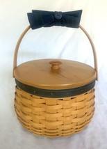 Longaberger Sewing Circle Basket Collectors Club Protector Liner Lid Com... - $58.80