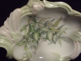 """PRETTY ANTIQUE ARTIST INITIALED HAND PAINTED T V LIMOGES 8"""" PIN DISH - $27.72"""