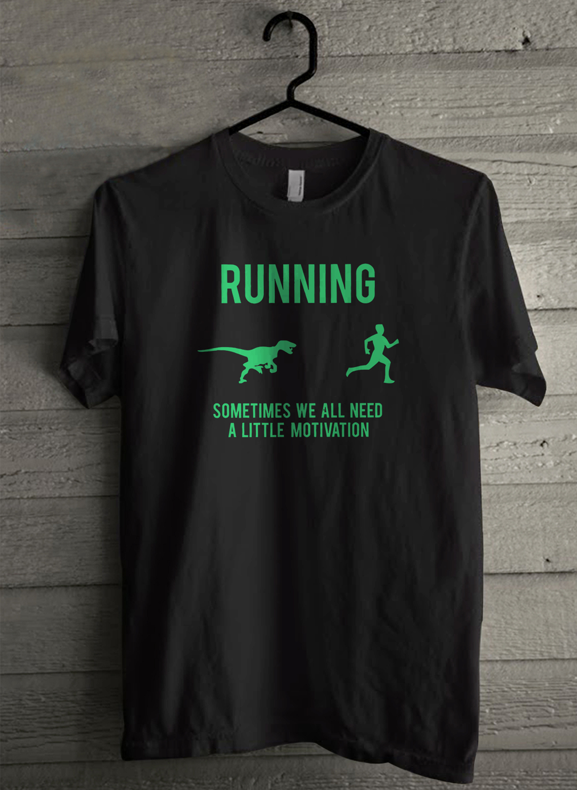 Primary image for Running Motivation Raptor - Custom Men's T-Shirt (501)