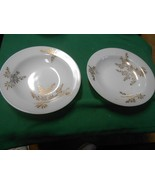 WHITE Opal Type Dinnerware Signed F -Two SOUP BOWLS - $5.26