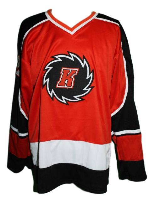 Guy dupuis fort wayne komets retro hockey jersey red   1