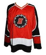 Custom Name # Fort Wayne Komets Retro Hockey Jersey New Red Dupuis Any Size - $54.99+