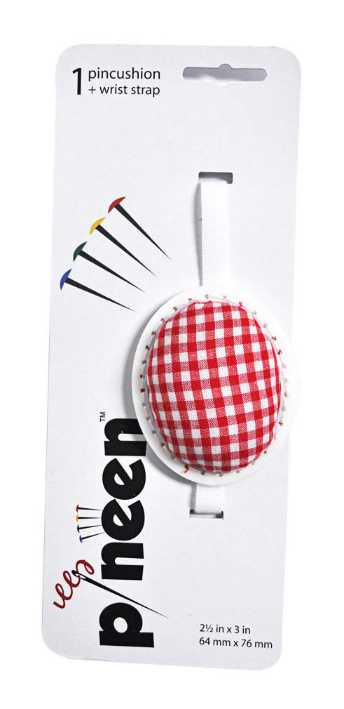 Pineen Wrist Strap Pincushion Red