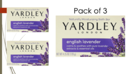 Moisturizing Soap Bath Bar YARDLEY london English Lavender (3Pack) 4.25 oz - $10.87