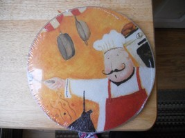 """NEW Glass Cutting Board Concepts Chef  Round  7.75""""  Diameter - $8.39"""