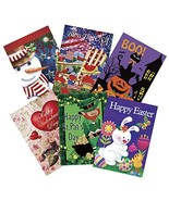 Morigins Seasonal Garden Flag Set for Outdoors Double Sided 12 x 18 Poly... - $28.66