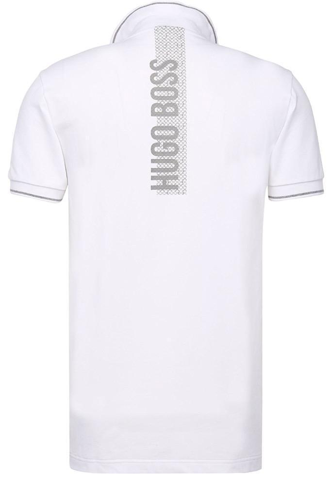 Hugo Boss Men Slim Fit Paule Pro Stretch Polo Shirt T-Shirt White 50310307