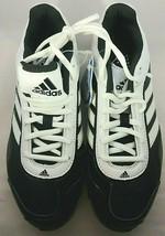 Adidas Baseball Softball Metal Cleats Black White Size 6 1/2 US Ortholite - $24.30