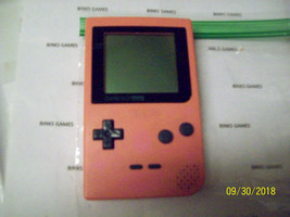 Nintendo GameBoy Pocket Handheld Console - Pink NEW SCREEN COVER  - $39.99