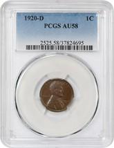 1920-D 1c PCGS AU58 - Lincoln Cent - $87.30
