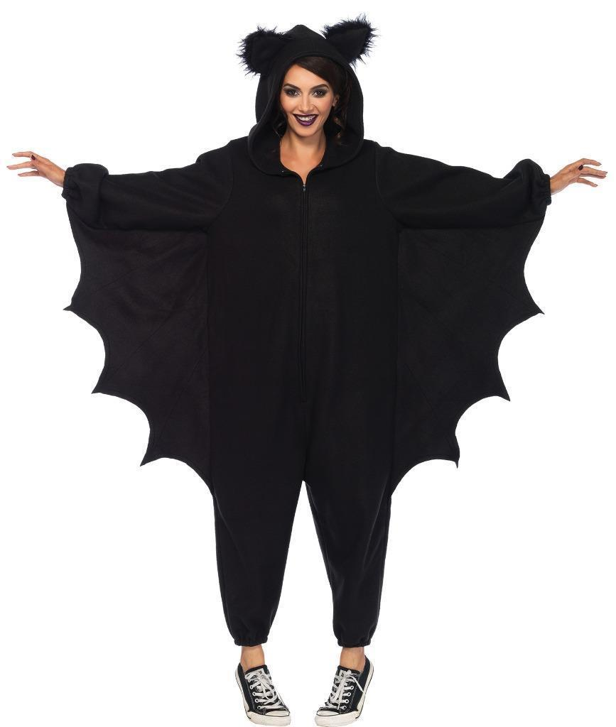 Bat Kigarumi Funsie Womens Costume Adult Black One-Piece Halloween UA85552