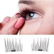 2017 new makeup Eyelashes Classic 3D Magnetic False Eyelashes Extension ... - ₨446.85 INR+
