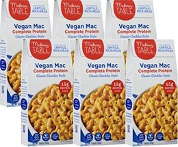 Modern Table Classic Cheddar Vegan Mac & Cheese, Complete Protein, 5.89 oz, 6 Co