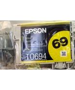 Epson 69 T0694 NEW NO BOX Original Yellow Ink Cartridge FREE SHIPPING - $8.79